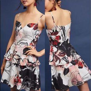 New Bhldn black halo ruffle floral Milana dress 12